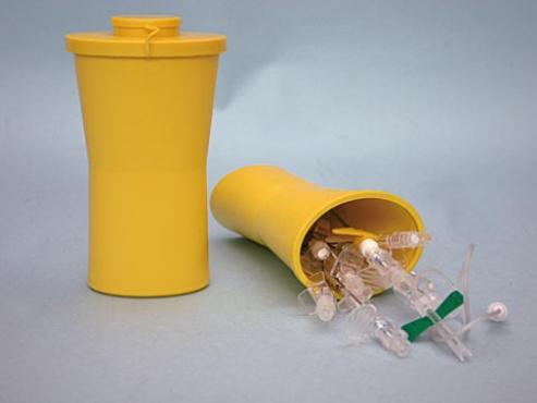 Kanülen und Spritzen Entsorgung