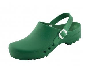 Schürr OP-Schuhe, CHIROCLOGS SPEZIAL, grün, mit Fersenriemen, für Damen und Herren Gr. 35