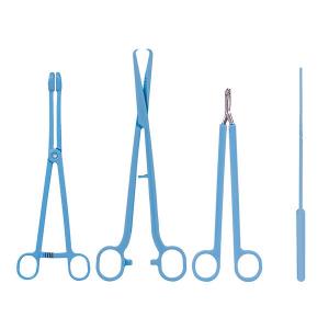 Einmal, IUP-Set, 4 sterile Einmalinstrumente aus Kunststoff/Metall