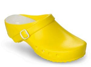 Schürr Schuhvertrieb OP-Schuhe, CHIROCLOGS Classic, gelb, Wechseleinlage, mit Fersenriemen, für Damen und Herren