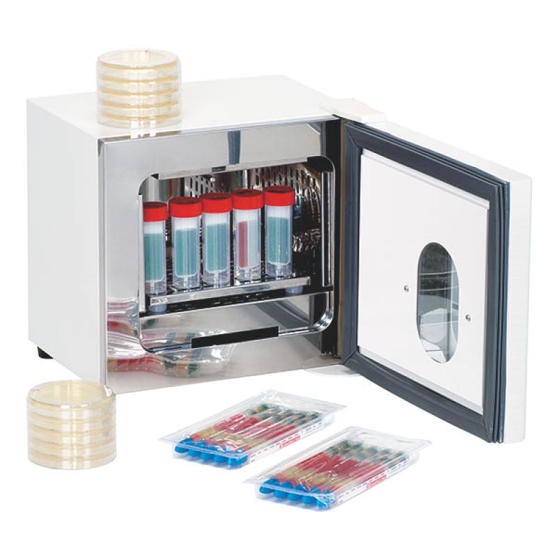 Servoprax Labocult Labor-Brutschrank für Labor und Praxis, Außen weiß, Innenraum Edelstahl H770