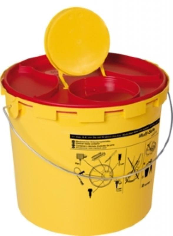 Sarstedt Entsorgungsbehälter Multi-Safe medi 6,6 Ltr. Inhalt, Volumen max 4,4 l, zur sicheren Entsorgung von Kanülen und Spritzen 77.3898.206