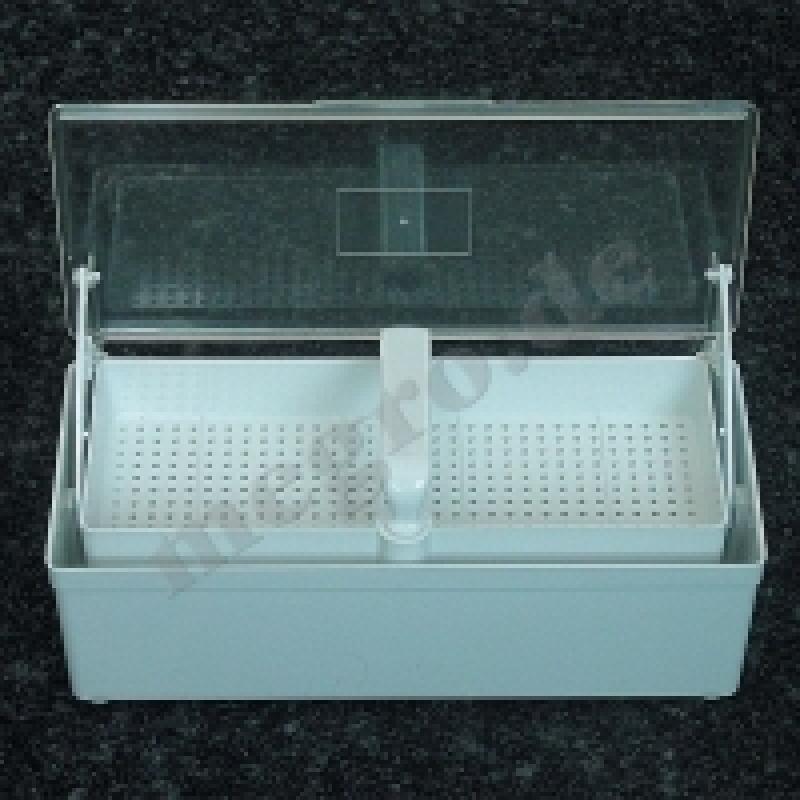 Megro Desinfektionswanne 1 Liter mit Siebkorb und Klarsichtdeckel MEG 289.0010