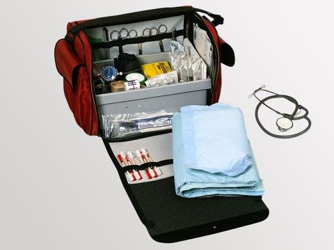 Bollmann Pflegetasche, für den Hausbesuch, Maße: 43 cm x 26 cm x 31 cm , Farbe: rot, blau oder schwarz