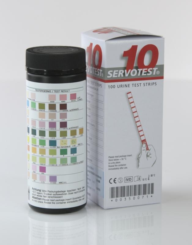 Servoprax Urinteststreifen Servotest 10 (100 Teststreifen) 10 Parameter K46099