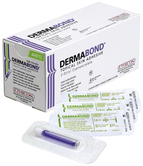 Ethicon Dermabond Hautkleber, HVD, 12 x 0,5 ml Ampullen AHV12