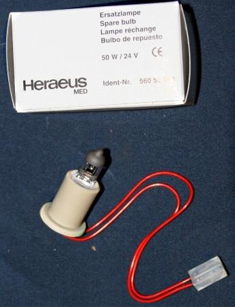 Ersatzlampe f?r Heraeus / Maquet / ALM, Untersuchungsleucht Blue-Line 30, 24V, 50 Watt