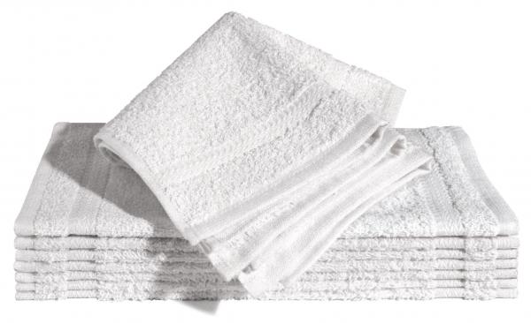 Handtuch, klein, Frottee, 30 x 30 cm, 100 % Baumwolle, wei?