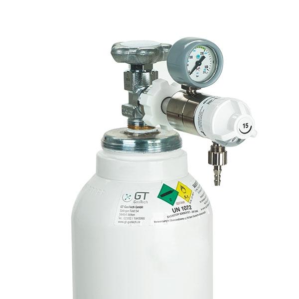 Servoprax Sauerstoff-Flaschen Druckminderer Flow 0-15 l/min, stufenlos regelbar oder fest 6 Ltr.