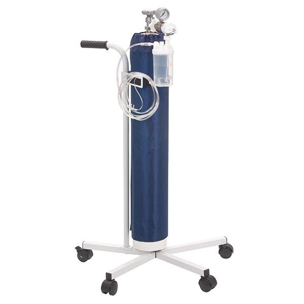 Servoprax Sauerstoff-Wagen für 10 Liter Flaschen mit Druckminderer und Zubehör (Ohne Flasche)