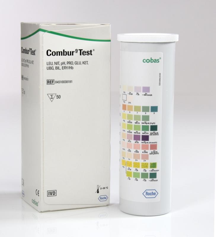 Roche Diagnostik Combur 9 Test (50 Teststreifen) Urinteststreifen, das Original 04510038191
