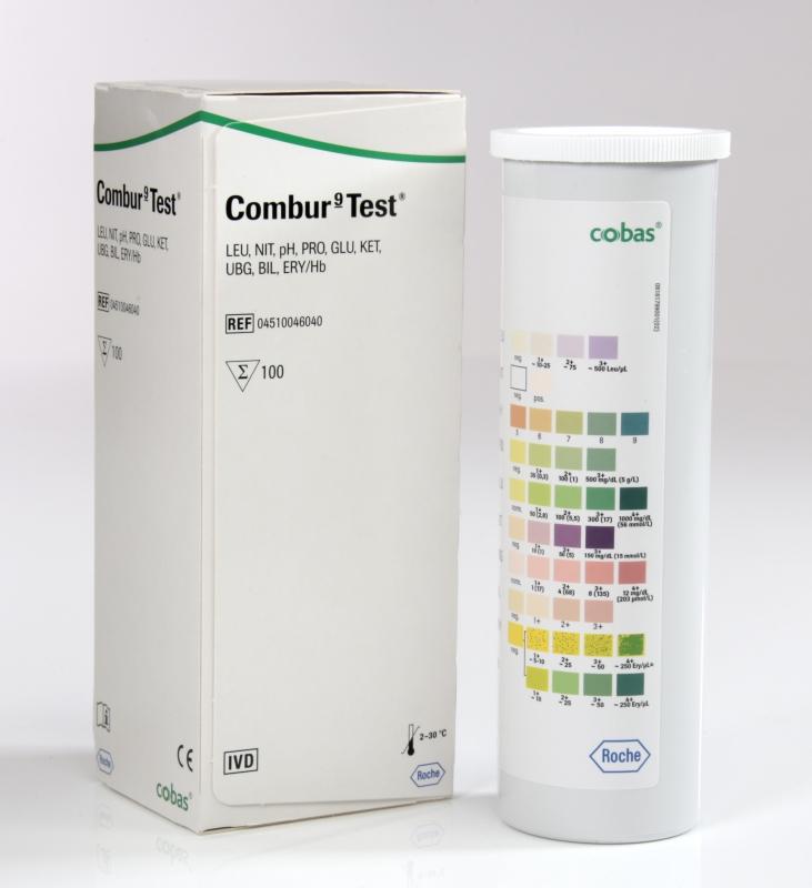 Roche Diagnostik Combur 9 Test (100 Teststreifen) Urinteststreifen, das Original 04510046040