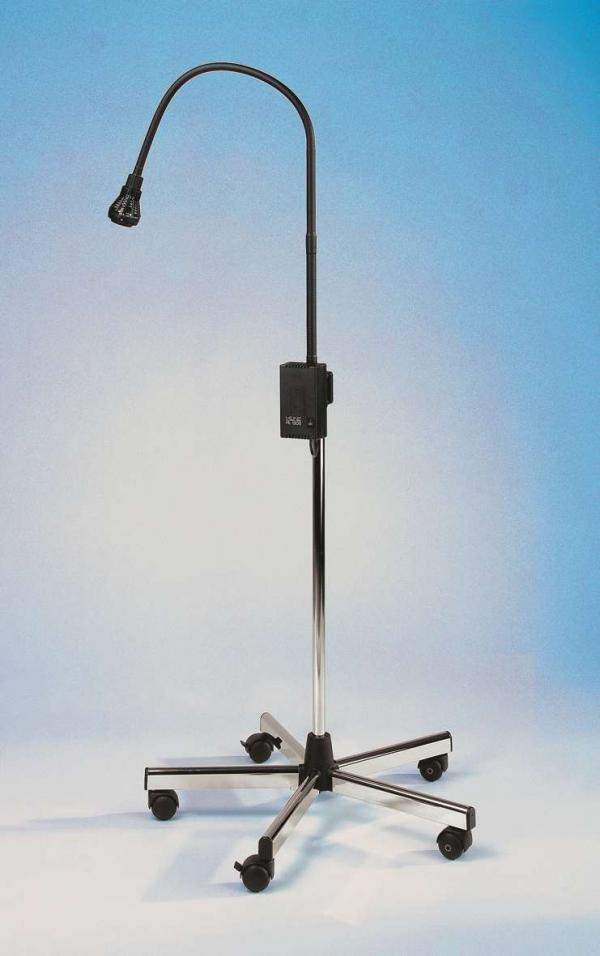 Untersuchungsleuchte HEINE HL 1200 mit Metall-Stativ, schwarz, 90000 LUX