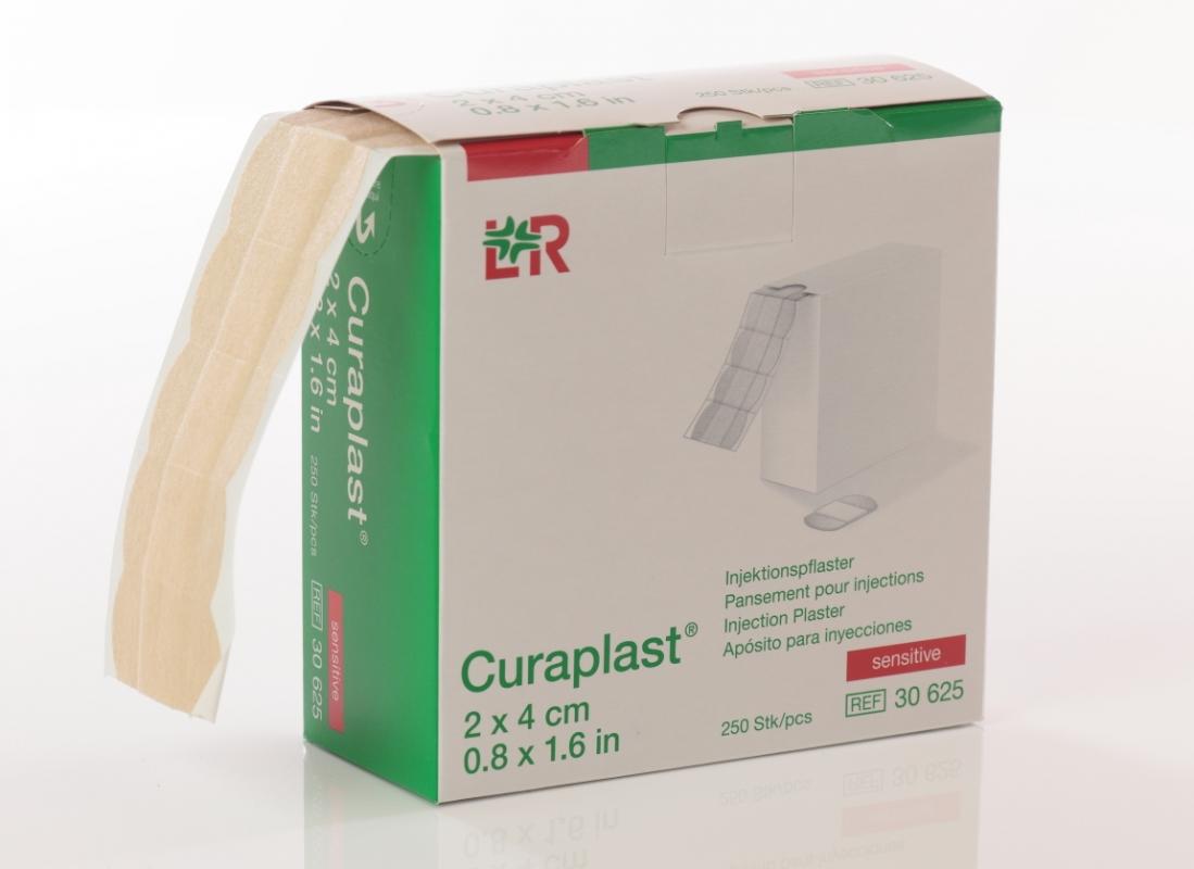 Lohmann & Rauscher GmbH&Co.KG Curaplast Injektionspflaster, sensitiv, 2 x 4 cm (250 Stück) 30625