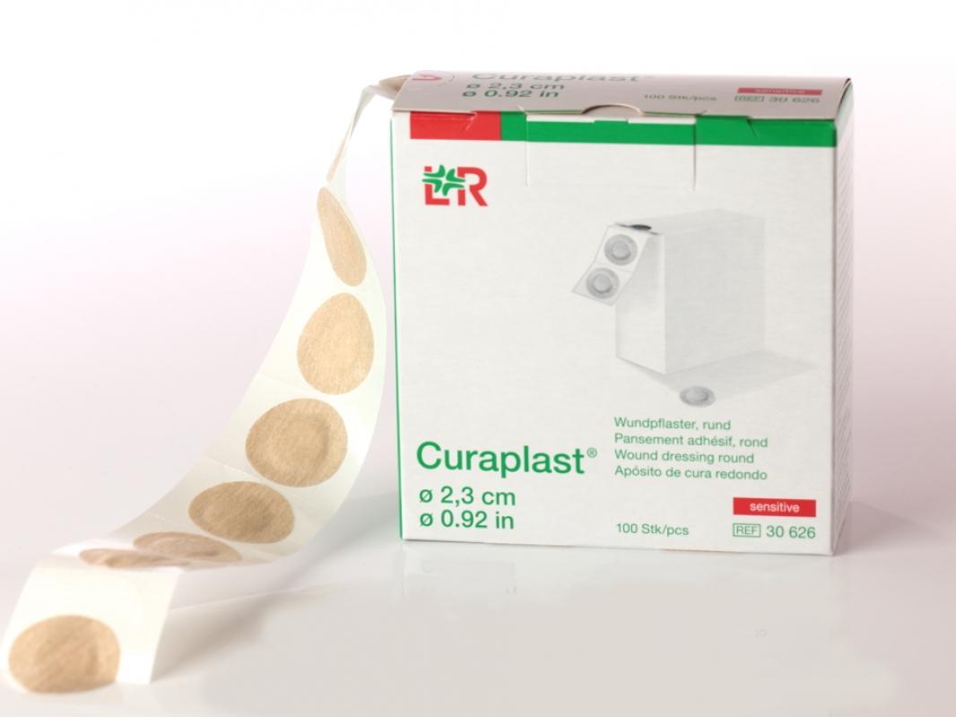 Lohmann & Rauscher GmbH & Co. KG Curaplast sensitiv rund, Injektionspflaster, 2,3 cm drm. (100 Stück) 30626