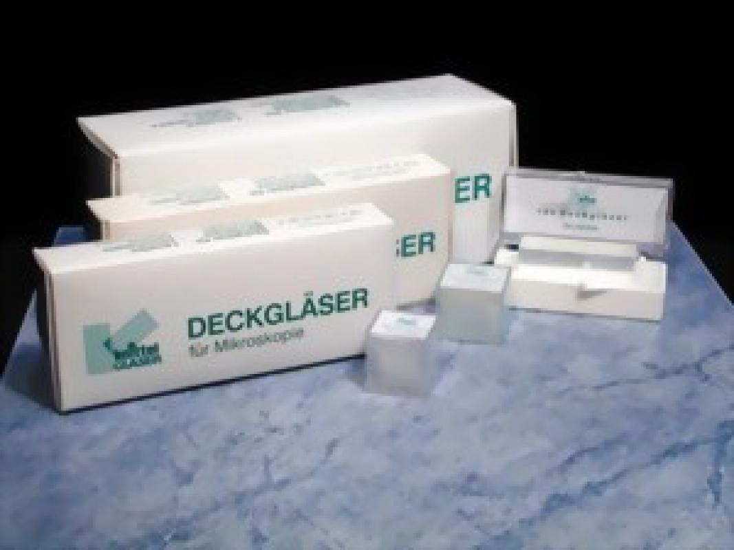 Herenz Deckgläser für die Mikroskopie geschliffen (100 Stück)