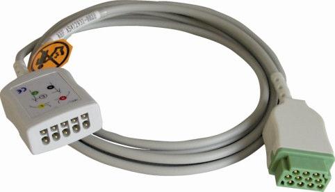 Asmuth Medizintechnik EKG-Stammkabel für GE/Nellcor/Hellige/Datex/Ohmeda Patientenmonitore, 5-adrig, 3,60 mtr.