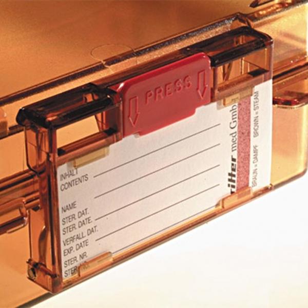 Klemmleiste f?r Sterilisationsetiketten zur polySteribox Modell L / XL