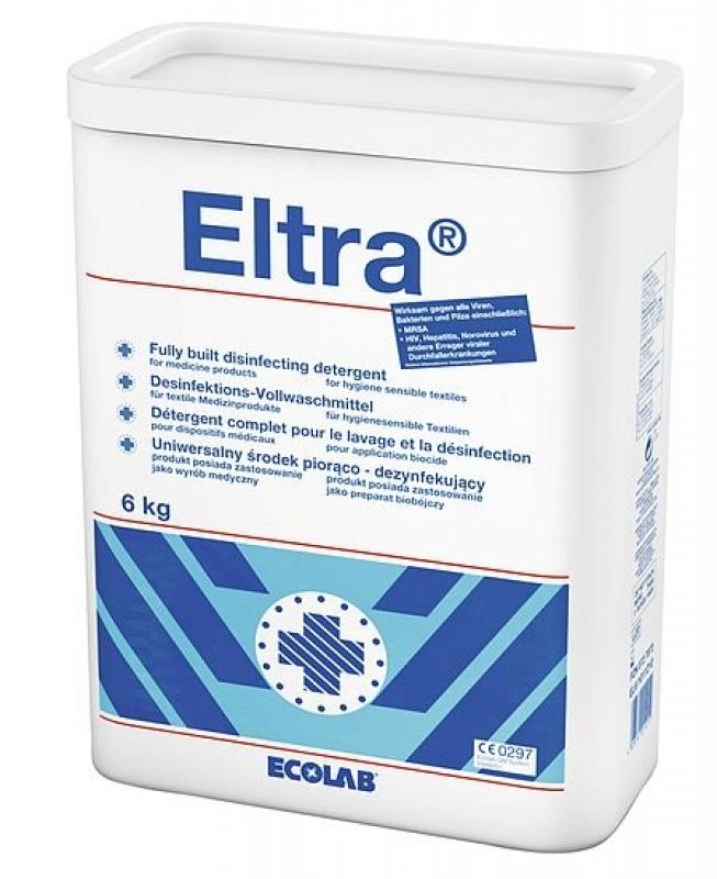 Ecolab Eltra 6 Kg Desinfektonswaschmittel, Vollwaschmittel für OP-Bekleidung und Berufswäsche 727073