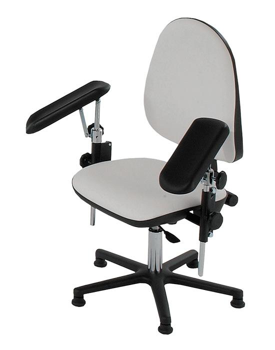 AGA Möbel AGA Blutabnahmestuhl BS1000, höhenverstellbar, drehbar, 2 Armstützen verstellbar, Gestell schwarz