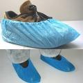 OP-Überschuhe, blau, (100 Stück) Kunststofffolie CPE, unsteril, antistatisch