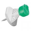 Mini-Spike grün (50 Stück) ohne Filter, Entnahmespike für Mehrfachentnahme, B.Braun