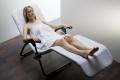 Kosmetik-Liegenbezug Frottee Teddy Plüsch weiß mit Gummizug  für Liegen von bis zu 80 x 200 cm