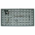 Silikon-Noppenmatte, grau, gelocht, für Steril Container, 500 x 230 mm
