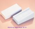 Schaumstoff Injektionskissen mit PVC-Bezug creme 45 cm lang