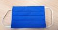 Mund-Nasenschutz oder Mundbedeckung mit Gummiband, 100% Baumwolle, Farbe: kornblau