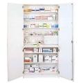 Aufbewahrungs- und Medikamentenschrank mit 2 Türen, weiß, 205 x 100 x 50 cm, Grundausstattung