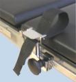 Handfessel aus CrNi-Stahl, schwarzes Gurtband, 50 mm breit und 500 mm lang