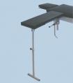 Arm- und Hand OP-Tisch aus CrNi-Stahl, höhenverstellbar 700 - 1135 mm, mit Bodenabstützung, Polsterauflage