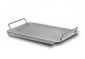 Edelstahl-Tablett mit Griffen und Füßen, gelocht, 265 x 175 mm für Dental-Implantat-Container