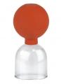 Acryl-Schröpfglas mit Gummi-Saugball