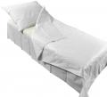 Einmal-Schutz-Bettlaken 160 x 270 cm, weiß, (5 Stück) leicht strukturierter Faservliesstoff