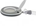 Lumeno LED-Kosmetik-Lupenleuchte 3 oder 5 Dioptrien in Weiß / Grau mit Tischklemme, Modell 8213 / 8215