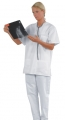 Berufs-Hose, Bochum, Farbe: weiß, Mischgewebe 50 % Baumwolle / 50 % PES (TB202A)