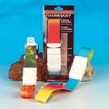Venenstauer mit Kunststoff-Clip-Verschluss. Einfache Einhand-Bedienung, moderne Bandfarben